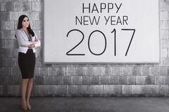 Business vision in 2017 Stock Images