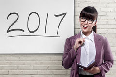 Business vision in 2017 Stock Photos