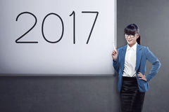 Business vision in 2017 Royalty Free Stock Photos