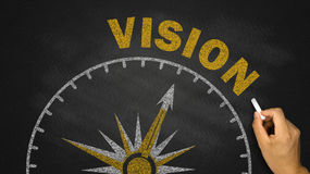 Business vision concept. On blackboard royalty free stock photo