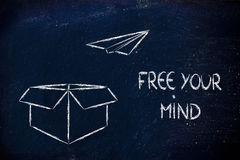 Business vision: free your mind Royalty Free Stock Image