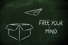 Business vision: free your mind. Free your mind for business success Stock Image