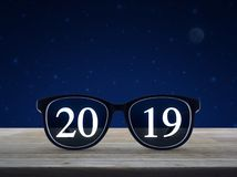 Business vision happy new year 2019 concept stock illustration