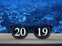 Business vision happy new year 2019 cover concept royalty free stock photos