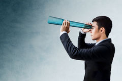 Business Vision and Leadership Concept, Businessman Looking or S Stock Photos