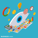Business vision vector concept Stock Image