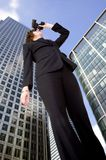 Business vision - woman in corporate environment Stock Image