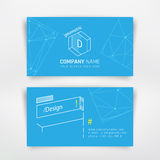 Business visit card. Template with geometric elements. Design for corporation brand company or graphic designer Stock Photography