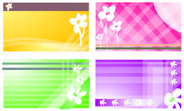 Business or visiting card with floral pattern Royalty Free Stock Images