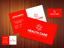 Business or visiting card for Health Care. Stock Images