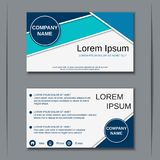 Business visiting card vector design template Royalty Free Stock Images