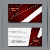 Business visiting card vector design template Royalty Free Stock Photos