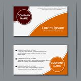 Business visiting card vector design template Stock Image