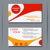 Business visiting card vector template Royalty Free Stock Images