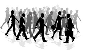 Business walking crowd rushing people Royalty Free Stock Images
