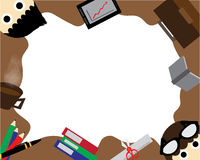 Business Wallpaper. Business Cartoon illustration  Wallpaper Royalty Free Stock Image