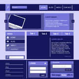 Business web design elements. In purple Stock Image