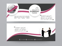 Business web header or banner design. vector illustration