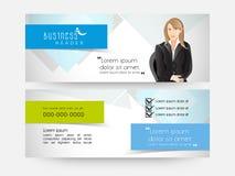 Business web header design. stock illustration