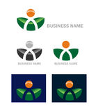 Business web icon logo. Color options stock illustration