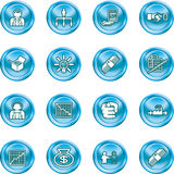 Business web icon set Stock Photo