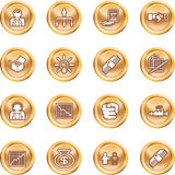 Business web icon set Royalty Free Stock Photo