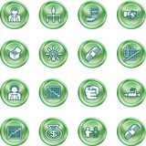 Business web icon set Stock Photos