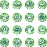 Business web icon set Stock Photos