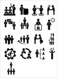 Business web icon set Royalty Free Stock Photography