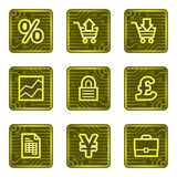 Business web icons, electronics card series Royalty Free Stock Image