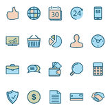 Business Web Icons Stock Photography