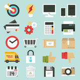 Business web icons set Stock Photo