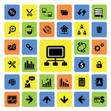 Business and web icons set Royalty Free Stock Images
