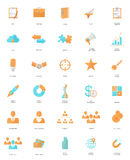 30 BUSINESS WEB ICONS Stock Images