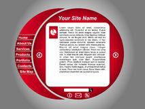 Business web page template. Clean red business editable web page template Royalty Free Stock Photo