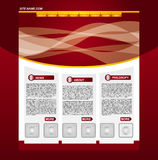 Business web page template. Clean editable business web page template Stock Images