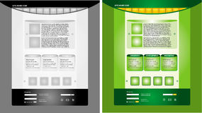 Business web page template set Stock Photography