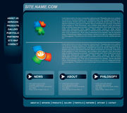 Business web page template set Stock Images