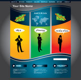 Business web page template set. Clean editable business web page template Royalty Free Stock Photo