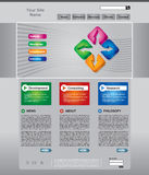 Business web page template set. Clean editable business web page template Stock Photos