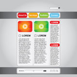 Business web page template set Royalty Free Stock Image