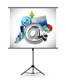 Business and web presentation illustration design Stock Images