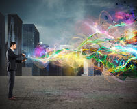 Business web projection stock image