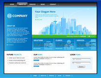 Business web site. Royalty Free Stock Photo