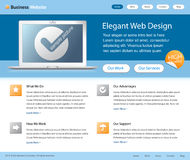 Business web site design template Royalty Free Stock Photo