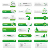 Business web site green buttons set Royalty Free Stock Photography