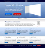 Business web site template Stock Photos
