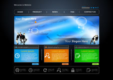 Business web site template Stock Photography