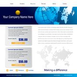 Business web template. An illustrated template for an international business web page