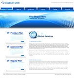 Business Web template Royalty Free Stock Images